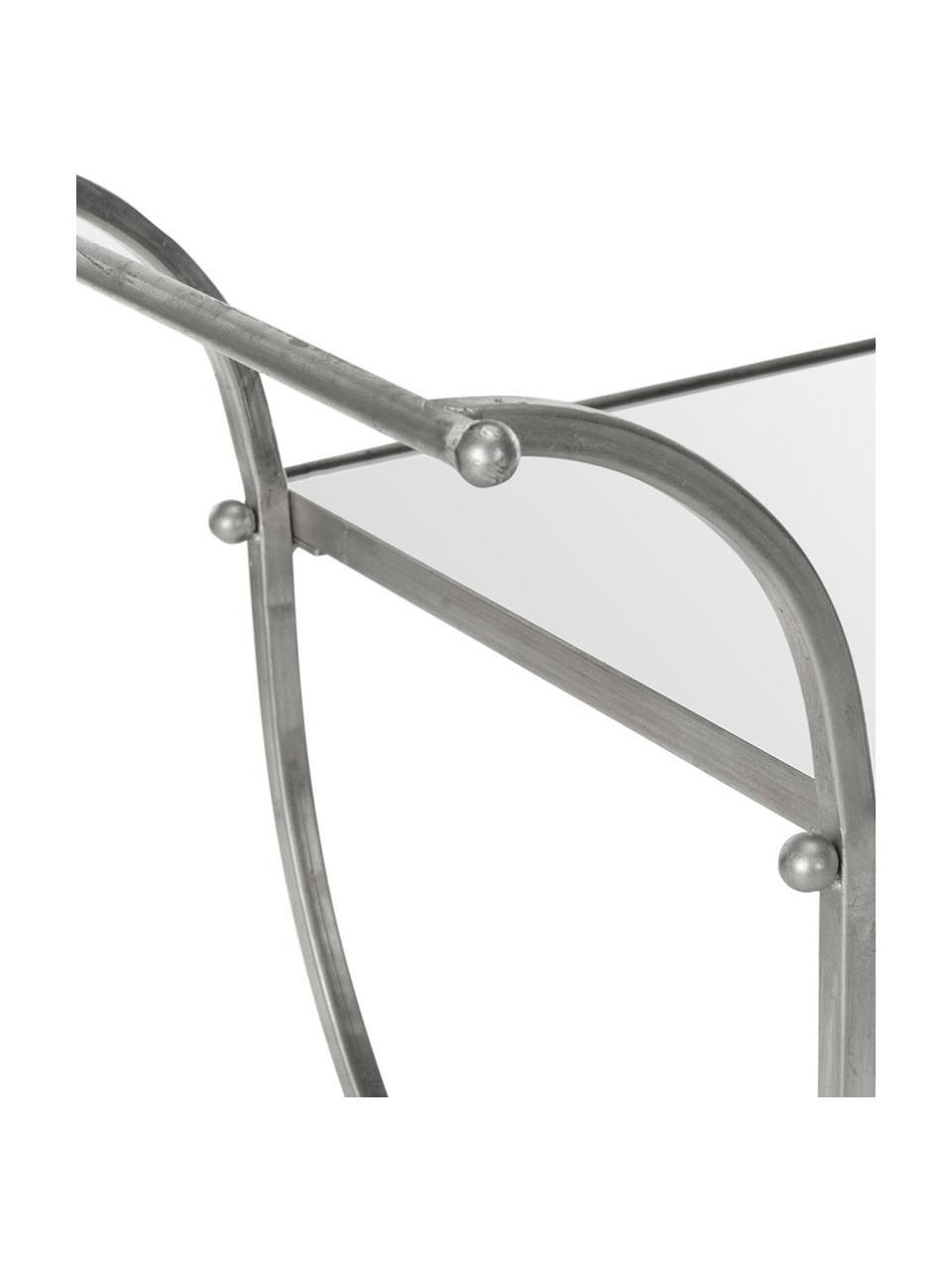 Carrello di servizio in metallo Porter, Struttura: ferro, Argento, Larg. 85 x Alt. 98 cm