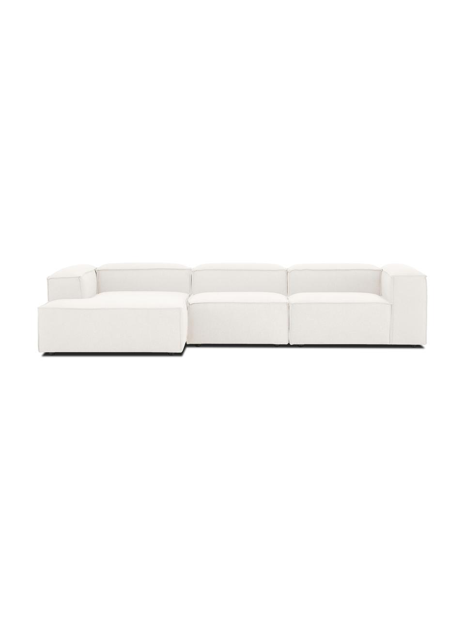 Narożna sofa modułowa Lennon, Tapicerka: 100% poliester Dzięki tka, Stelaż: lite drewno sosnowe, skle, Nogi: tworzywo sztuczne Nogi zn, Beżowy, S 327 x G 180 cm