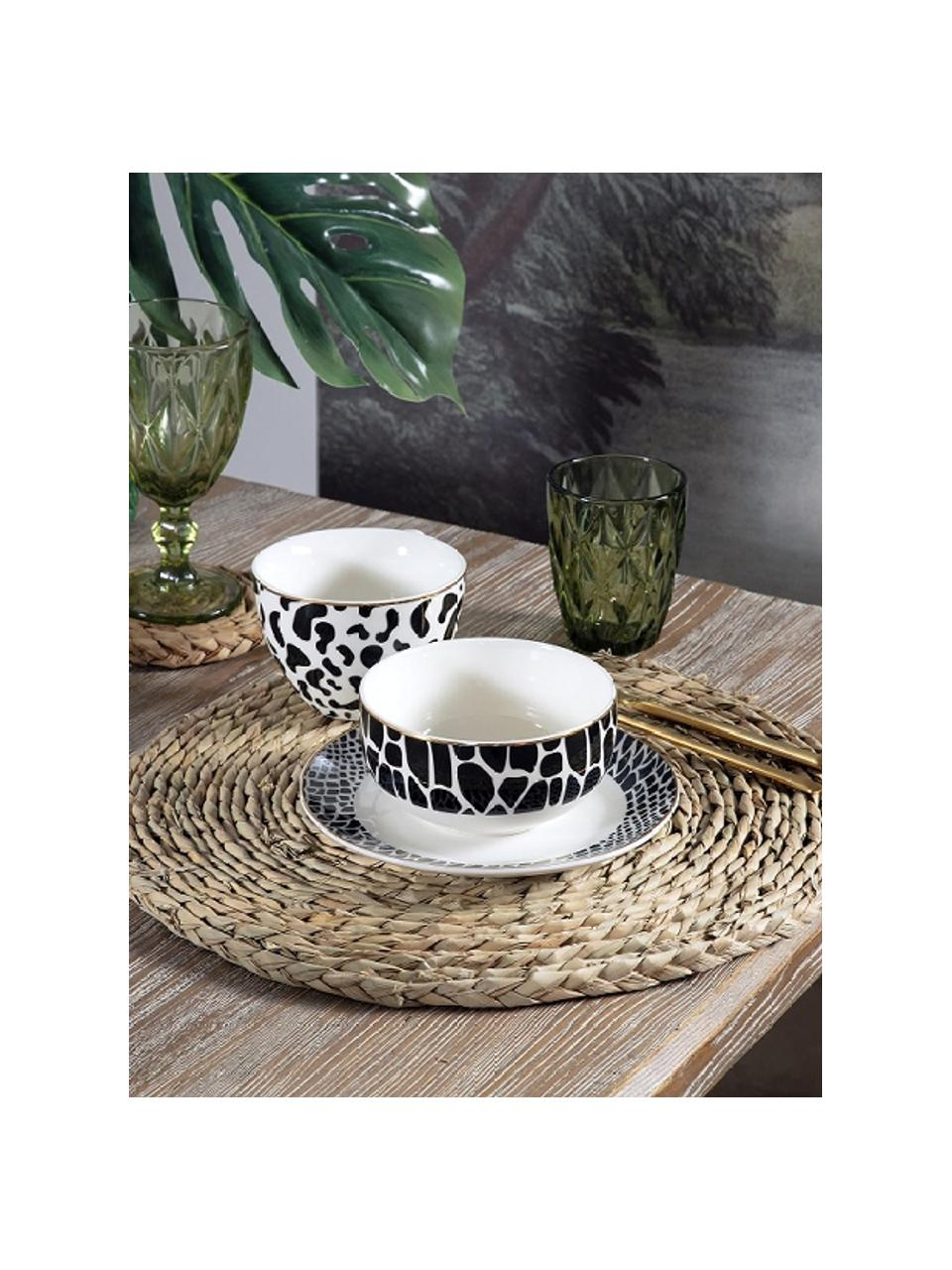 Tasse Wild Jungle, 4 élém., Noir, blanc