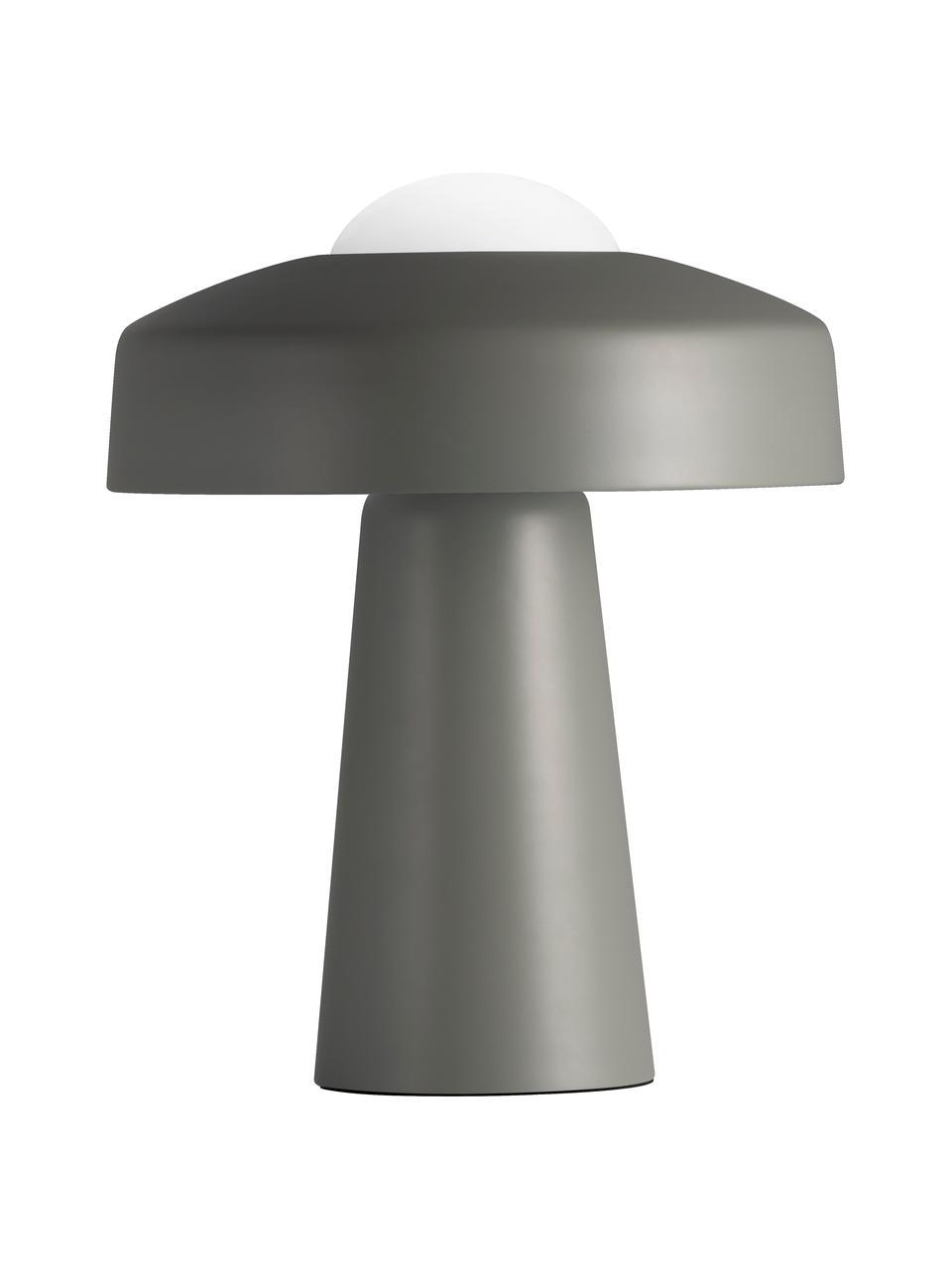 Design Tischlampe Time mit Touch-Funktion, Lampenschirm: Metall, beschichtet, Lampenfuß: Metall, beschichtet, Grau, Weiß, Ø 27 x H 34 cm