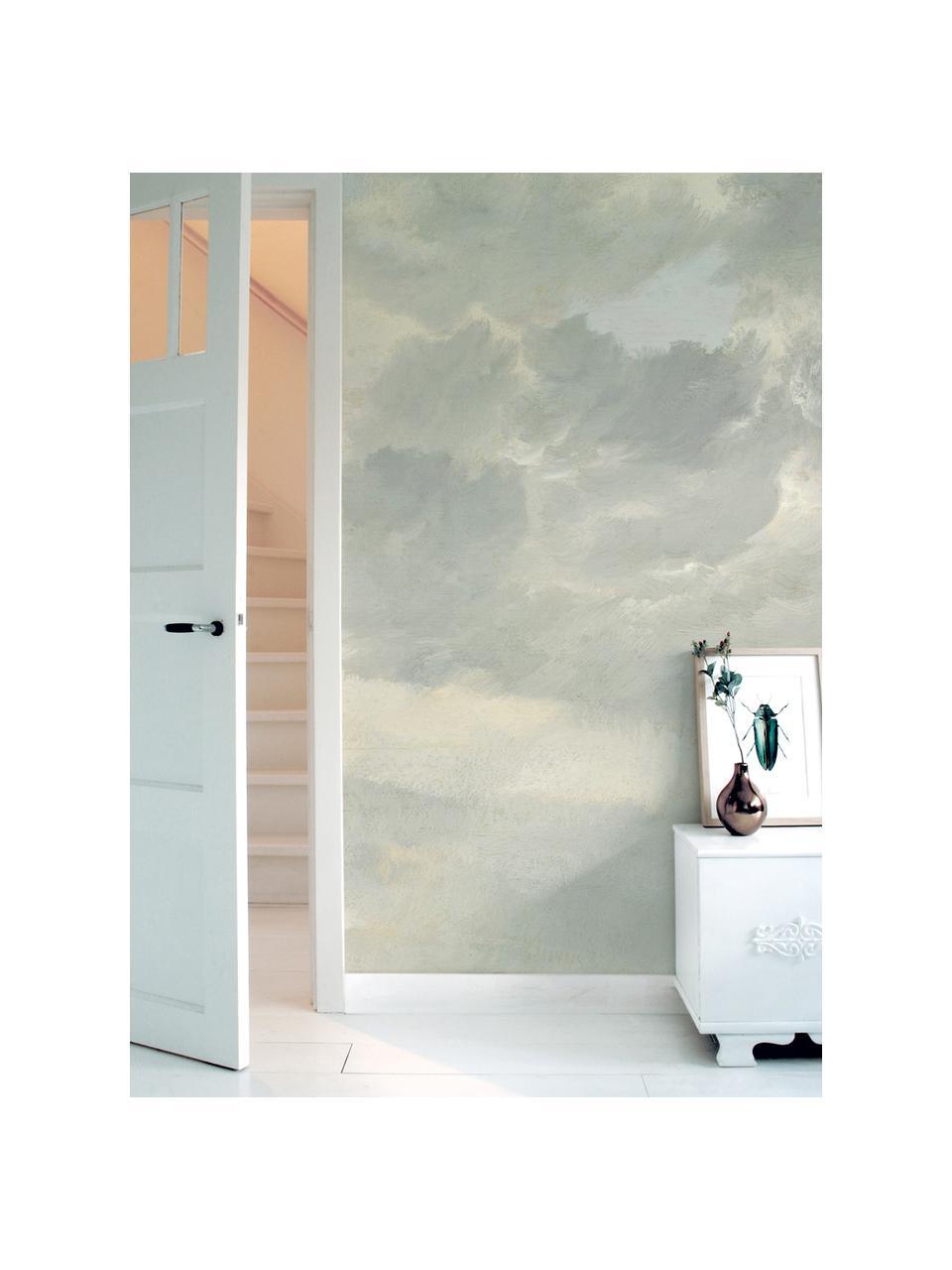Fotobehang Golden Age Clouds, Vlies, milieuvriendelijk en biologisch afbreekbaar, Grijs, mat beige, 196 x 280 cm