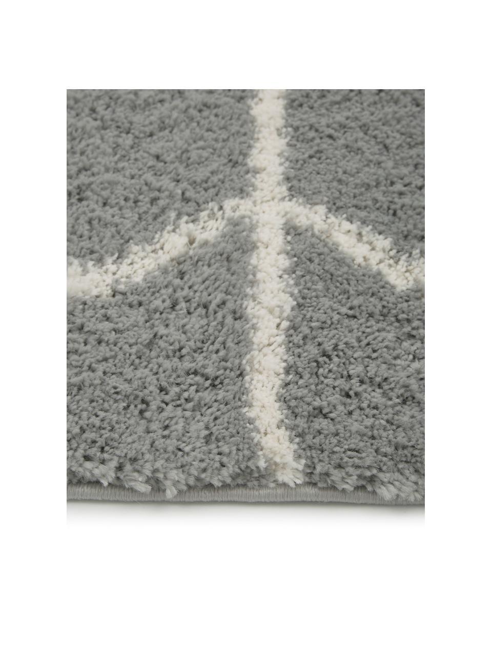 Chodnik z wysokim stosem Cera, Szary, kremowobiały, S 80 x D 250 cm