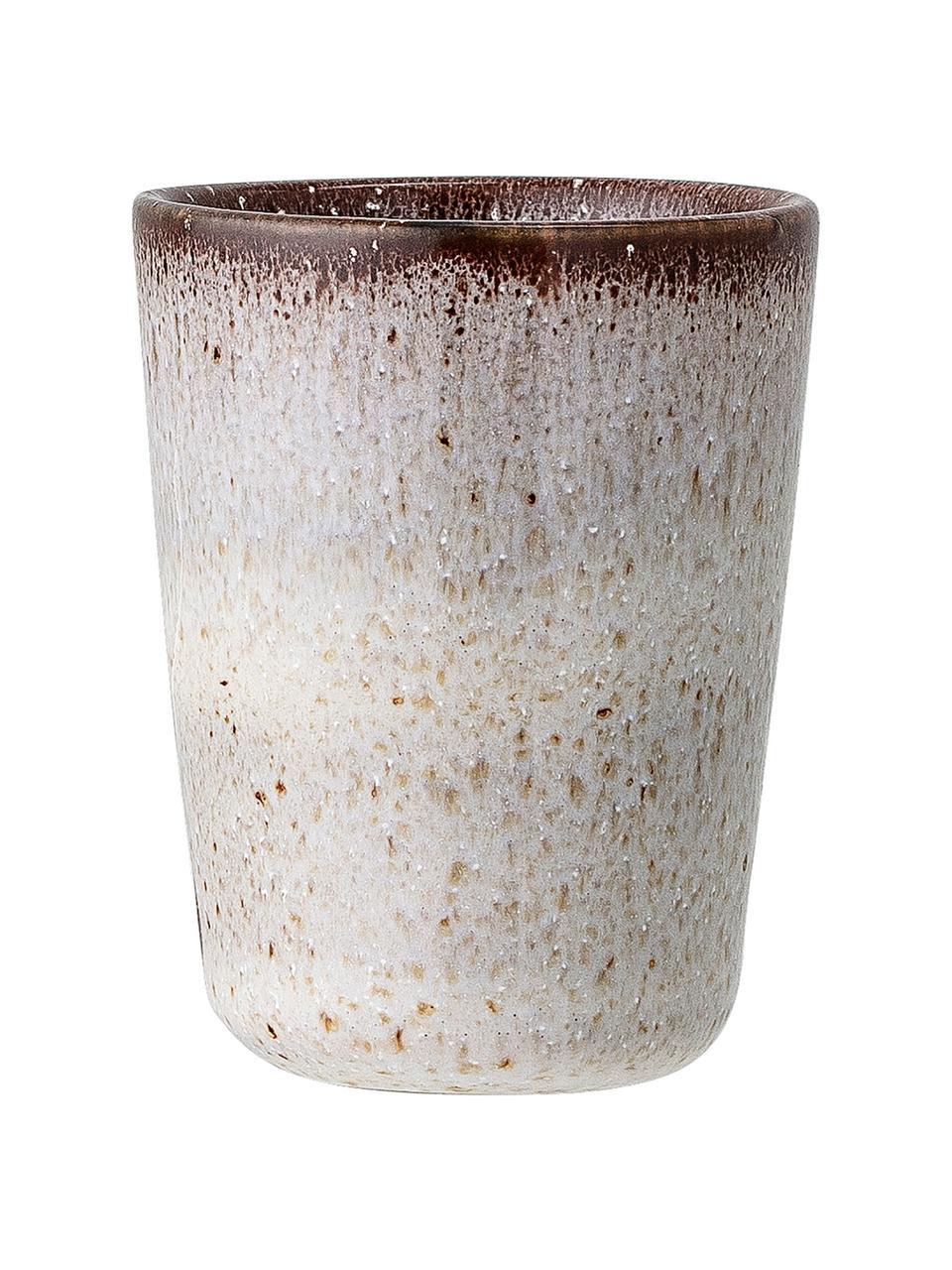 Ręcznie wykonany kieliszek do jajek Sandrine, 2 szt., Kamionka, Jasny szary, Ø 5 x W 7 cm