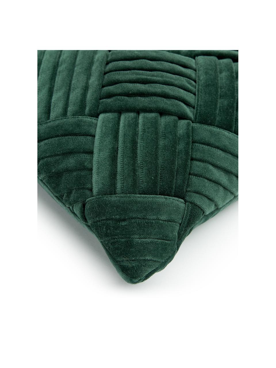 Housse de coussin rectangulaire velours Sina, Vert
