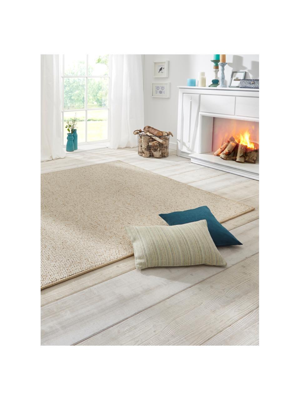Teppich Lyon mit Schlingen-Flor, Flor: 100% Polypropylen Rücken, Creme, melangiert, B 200 x L 300 cm (Größe L)