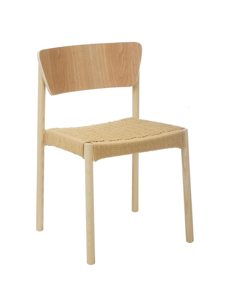 Chaise en bois Danny, 2 pièces, Bois clair
