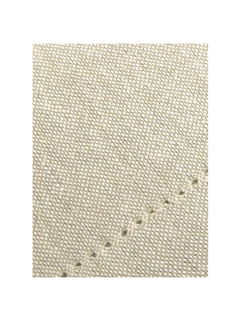 Obrus z bawełny Indi, Bawełna, Kremowy, Dla 6-8 osób (S 140 x D 250 cm)