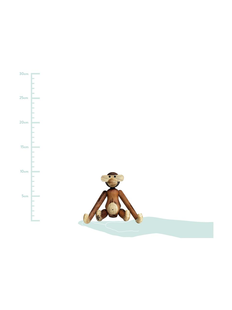 Designer-Deko-Objekt Monkey, Teakholz, Teakholz, Limbaholz, lackiert, Teakholz, Limbaholz, 20 x 19 cm