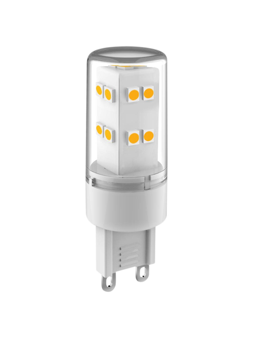 G9 Leuchtmittel, 3.3W, neutrales Weiß, 3 Stück, Leuchtmittelschirm: Glas, Leuchtmittelfassung: Aluminium, Transparent, Ø 2 x H 6 cm