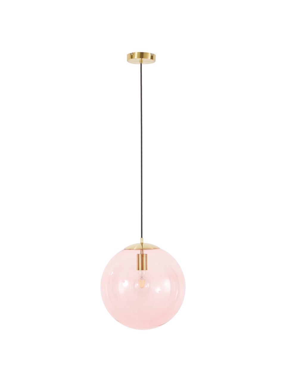 Lampa wisząca ze szkła Bao, Różowy, Ø 35 cm