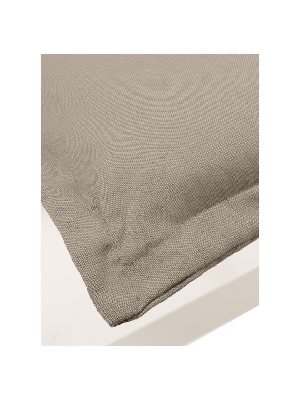 Cuscino sedia con schienale alto Panama, Rivestimento: 50% cotone, 50% poliester, Color sabbia, Larg. 50 x Lung. 123 cm