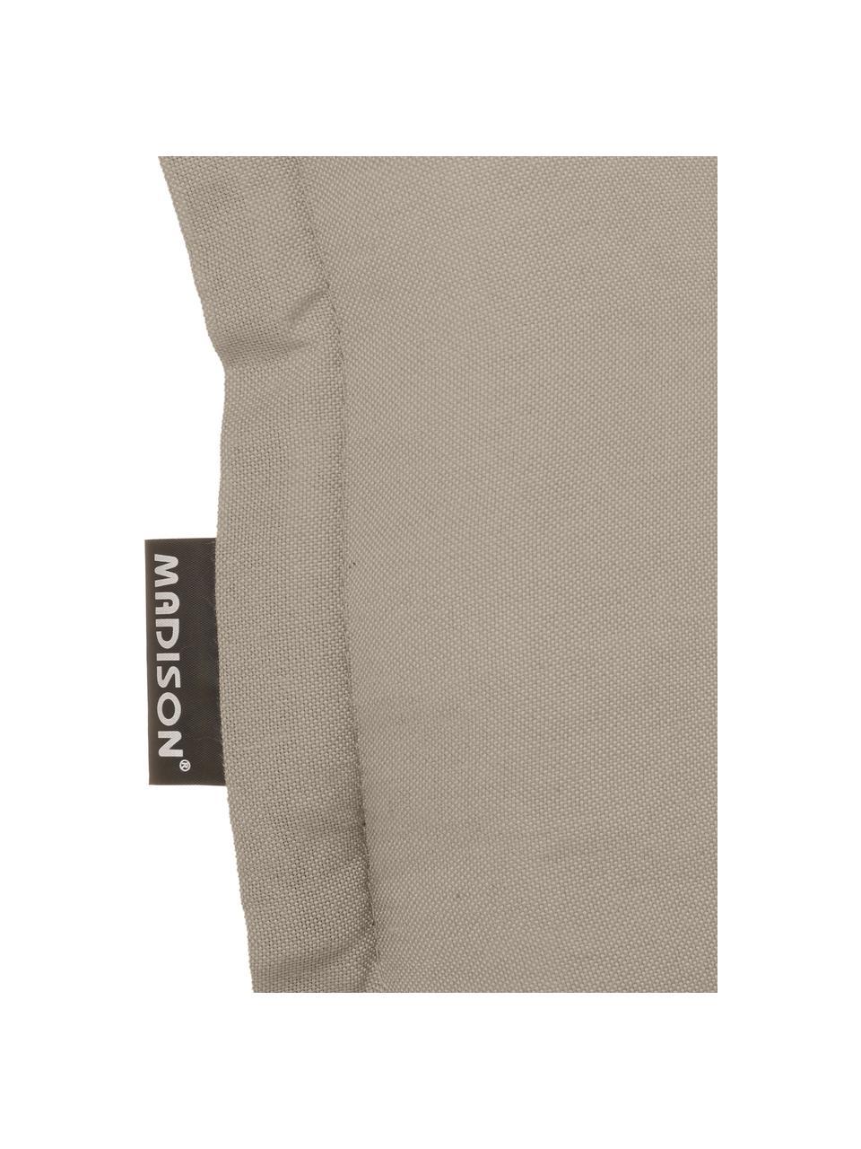 Einfarbige Hochlehner-Stuhlauflage Panama in Sandfarben, Bezug: 50% Baumwolle, 50%Polyes, Sandfarben, 50 x 123 cm