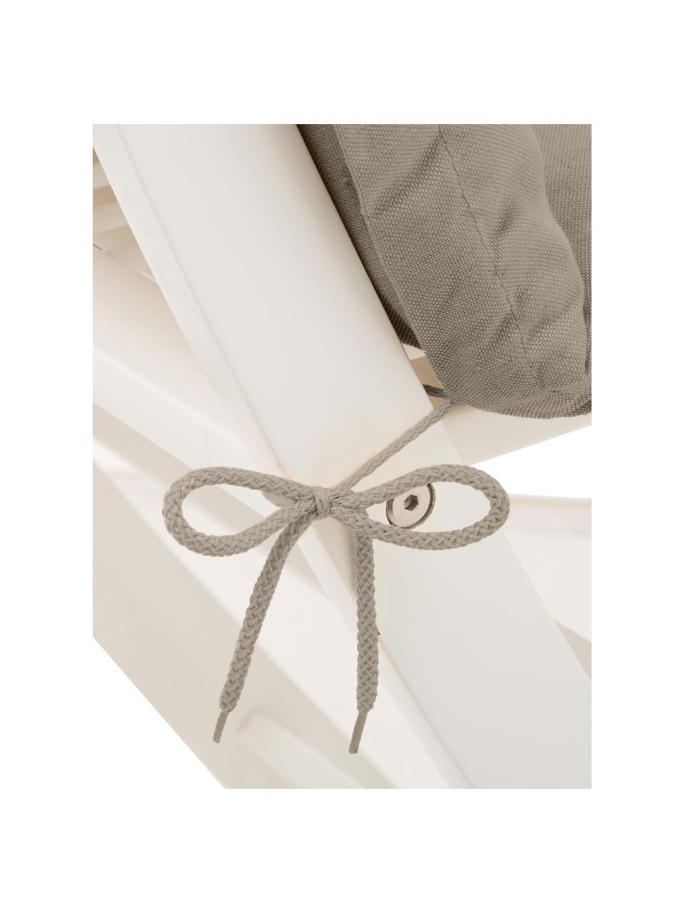 Poduszka na krzesło z oparciem Panama, Tapicerka: 50% bawełna, 50%polieste, Odcienie piaskowego, S 50 x D 123 cm