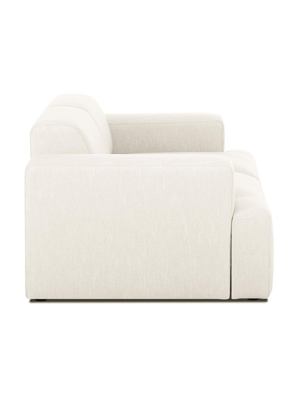 Canapé 2places beige Melva, Tissu beige
