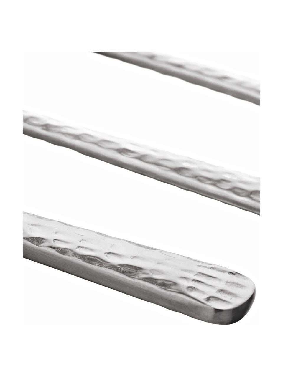 Set 16 posate con manici martellati per 4 persone Hune, Acciaio inossidabile 18/8, spazzolato, martellato, Acciaio, Lung. 24 cm