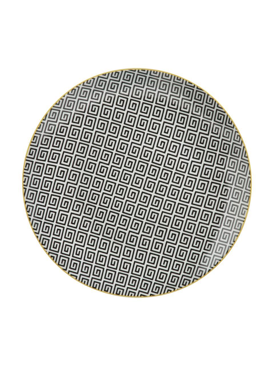 Bordenset Urban Jungle, 18-delig, Groentinten, wit, zwart, goudkleurig, Set met verschillende formaten
