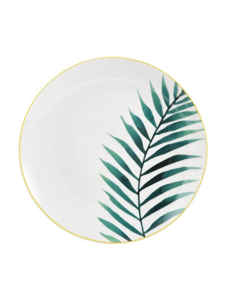 Set 18 piatti con motivo tropicale per 6 persone Urban Jungle, Verde, bianco, nero, giallo, Set in varie misure