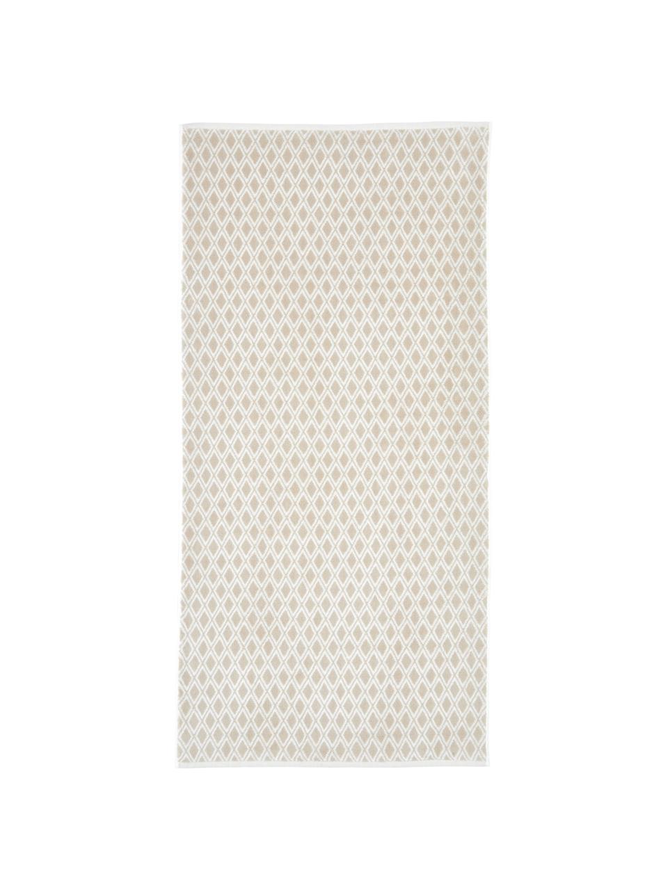 Lot de serviettes de bain réversibles Ava, 3 élém., Couleur sable, blanc crème