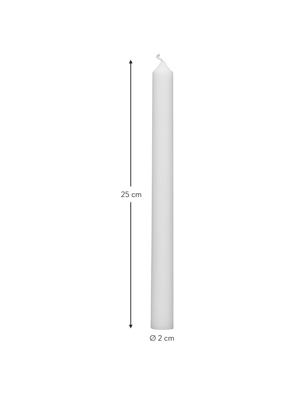Stabkerzen Stick, 4 Stück, Paraffinwachs, Weiß, Ø 2 x H 25 cm
