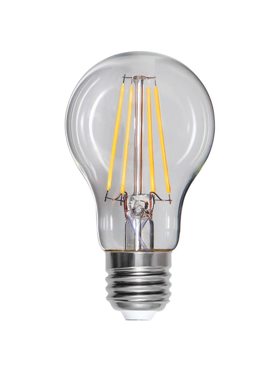 E27 Leuchtmittel, 8W, dimmbar, warmweiß, 1 Stück, Leuchtmittelschirm: Glas, Leuchtmittelfassung: Aluminium, Transparent, Ø 6 x H 11 cm