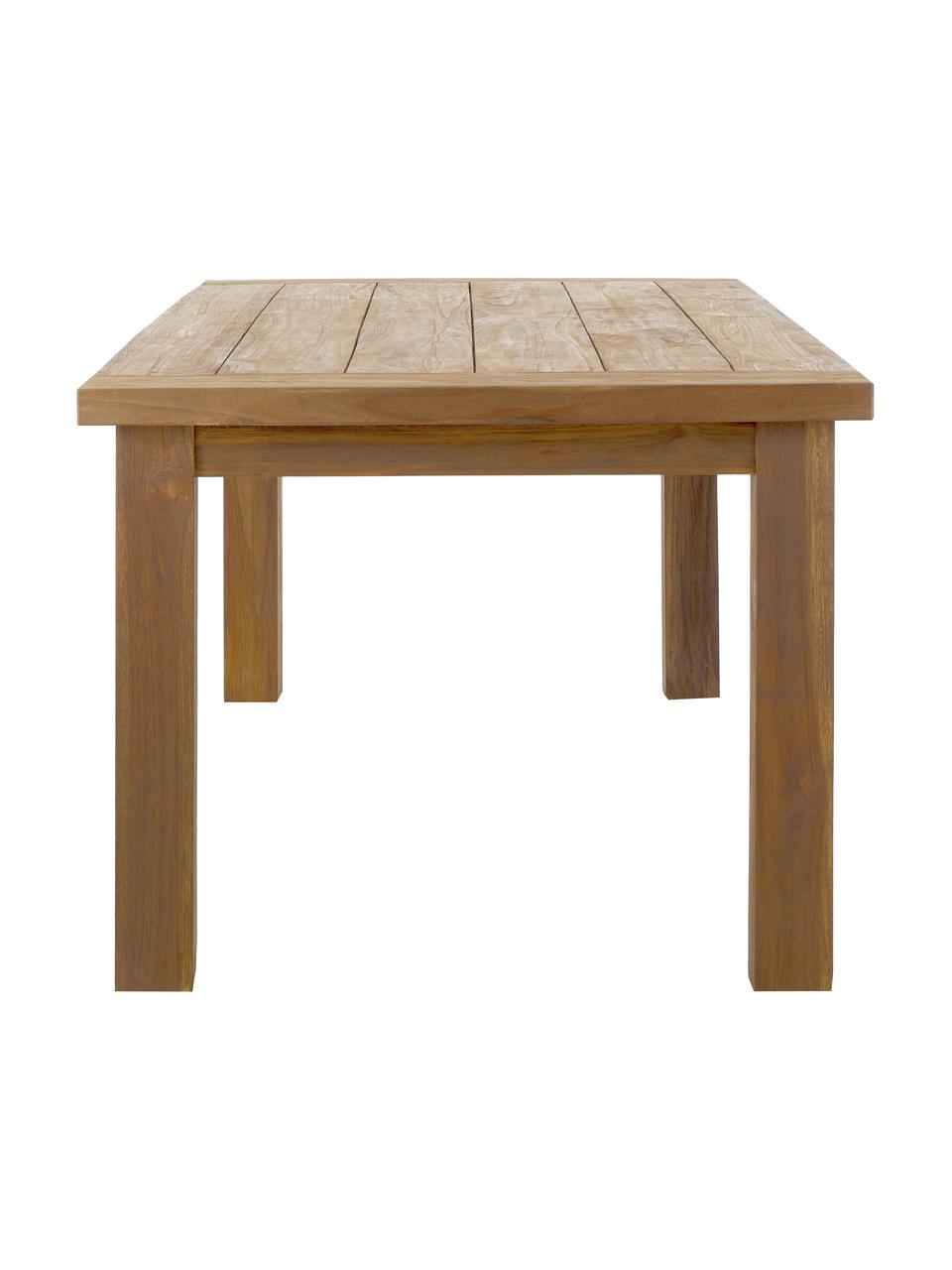 Stół do jadalni z litego drewna tekowego Bois, Lite drewno tekowe, surowe, Drewno tekowe, S 200 x G 100 cm