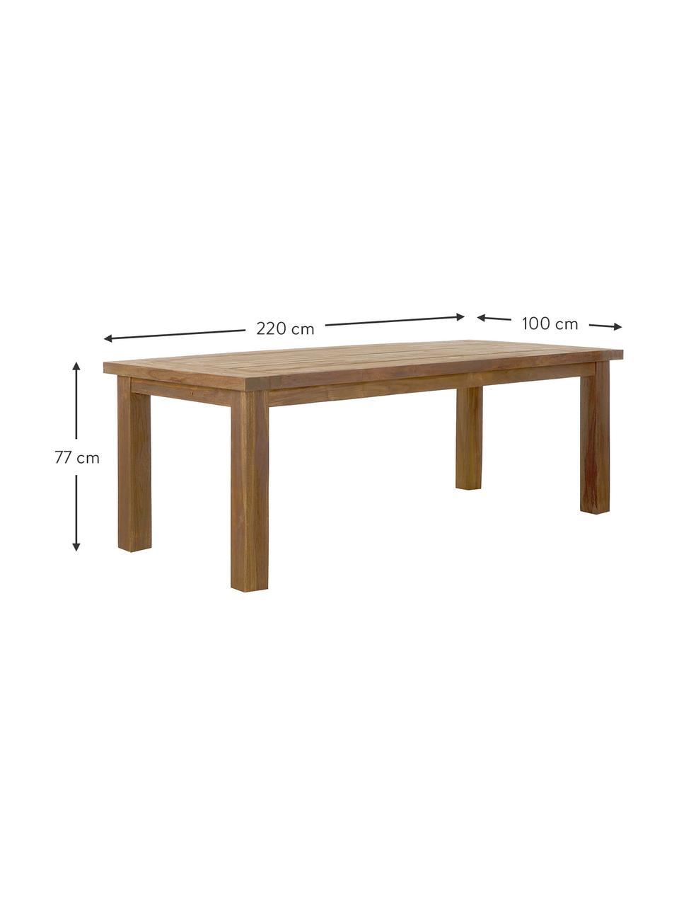 Stół do jadalni z litego drewna Bois, Lite drewno tekowe, surowe, Drewno tekowe, S 200 x G 100 cm