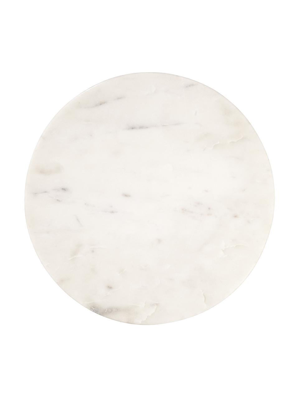 Marmeren serveerplateau Minu, Ø 30 cm, Marmer, Wit, Ø 30 cm