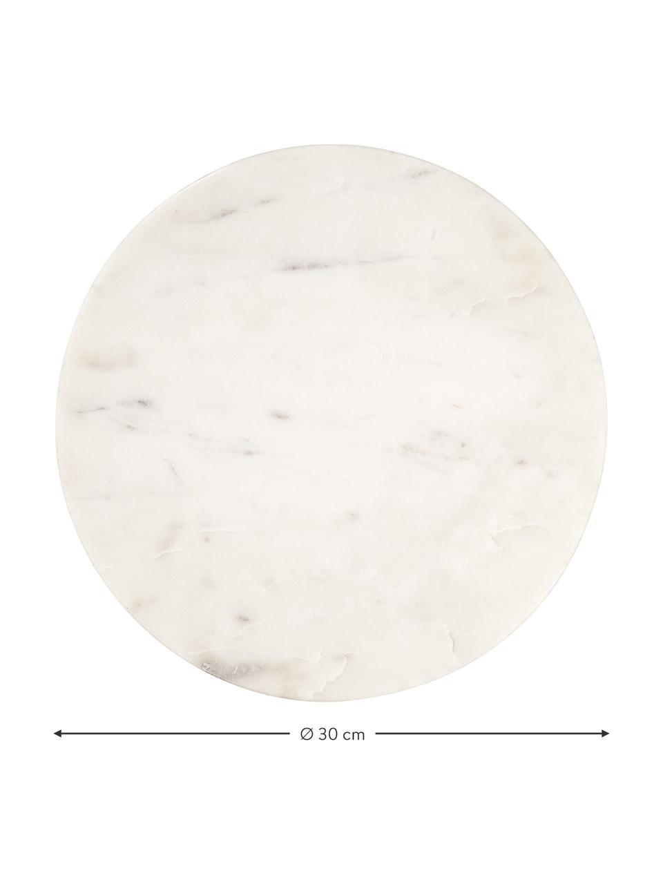 Mramorový servírovací talíř Minu, Ø 30 cm, Bílá
