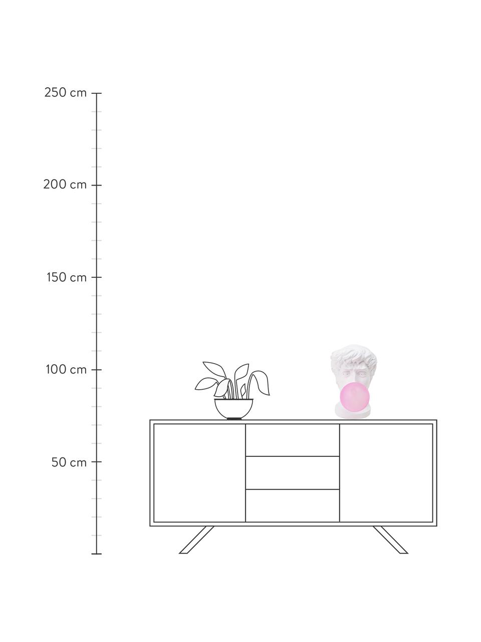Lampada da tavolo di design Wonder Times, Paralume: vetro, Bianco, rosa, Larg. 13 x Alt. 41 cm