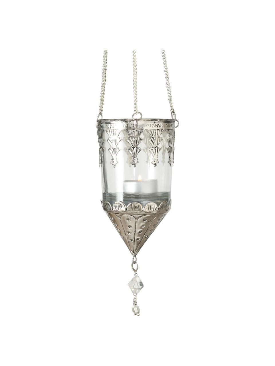 Komplet latarenek Cosa, 3 elem., Transparentny, odcienie srebrnego, Ø 9 x W 23 cm