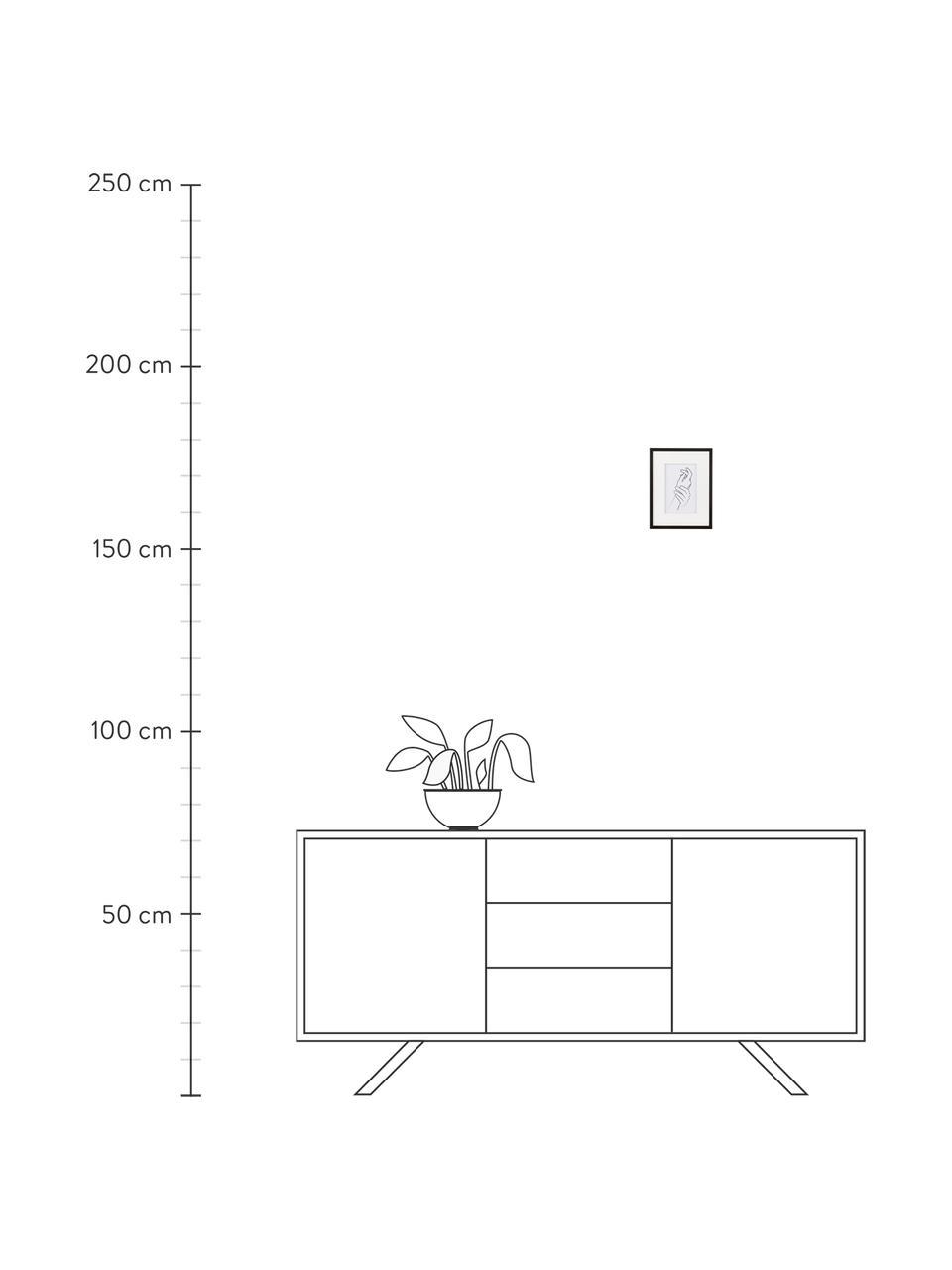 Bilderrahmen Austin Hands, Rahmen: Mitteldichte Holzfaserpla, Front: Glas, Schwarz, 10 x 15 cm