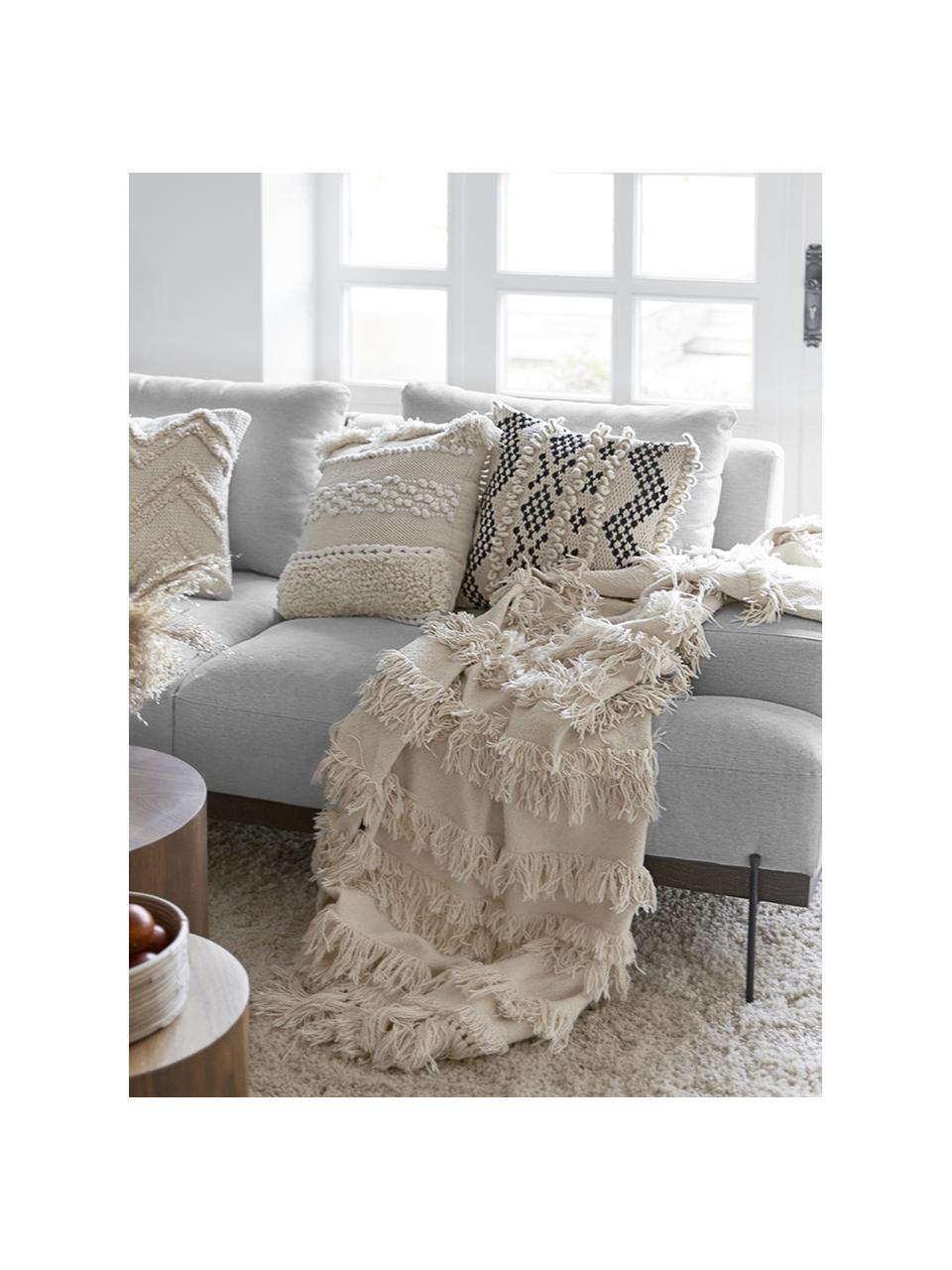 Sofa Brooks (3-Sitzer) in Grau mit Metall-Füßen, Bezug: Polyester Der Bezug weist, Gestell: Kiefernholz, massiv, Rahmen: Kiefernholz, lackiert, Füße: Metall, pulverbeschichtet, Webstoff Grau, 230 x 75 cm
