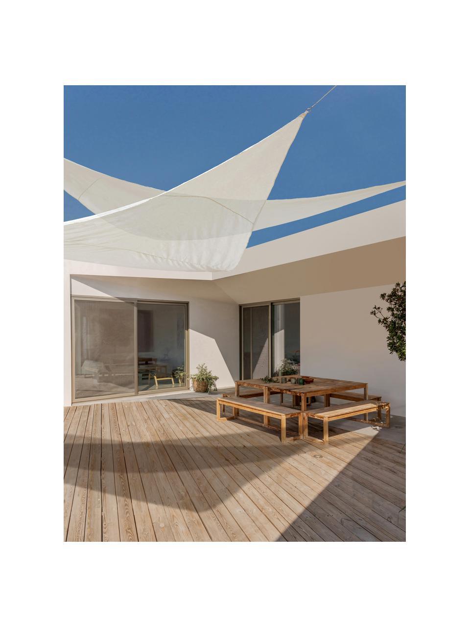 Weißes Sonnensegel Triangle, 360 x 360 cm, Weiß, 360 x 360 cm