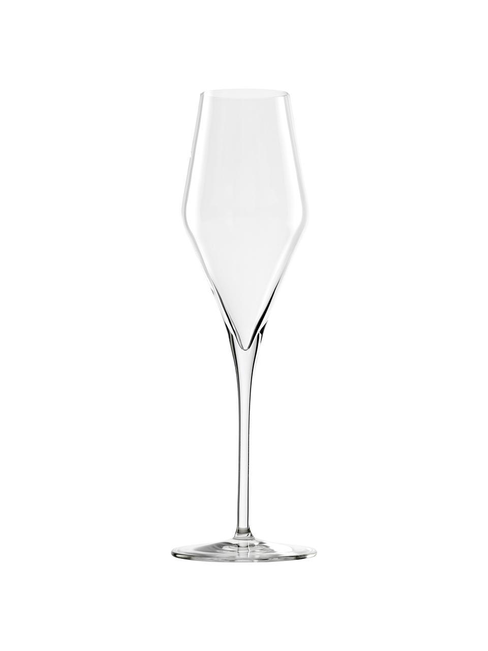 Champagneglazen Quatrophil, 6 stuks, Kristalglas, Transparant, Ø 8 x H 26 cm