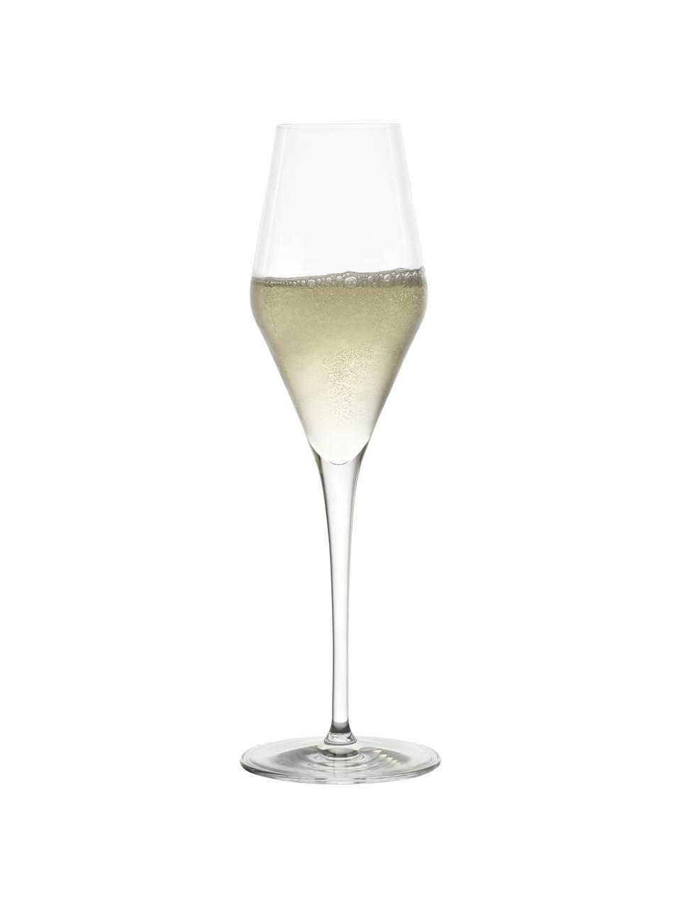 Křišťálová sklenice na sekt Quatrophil, 6 ks, Transparentní