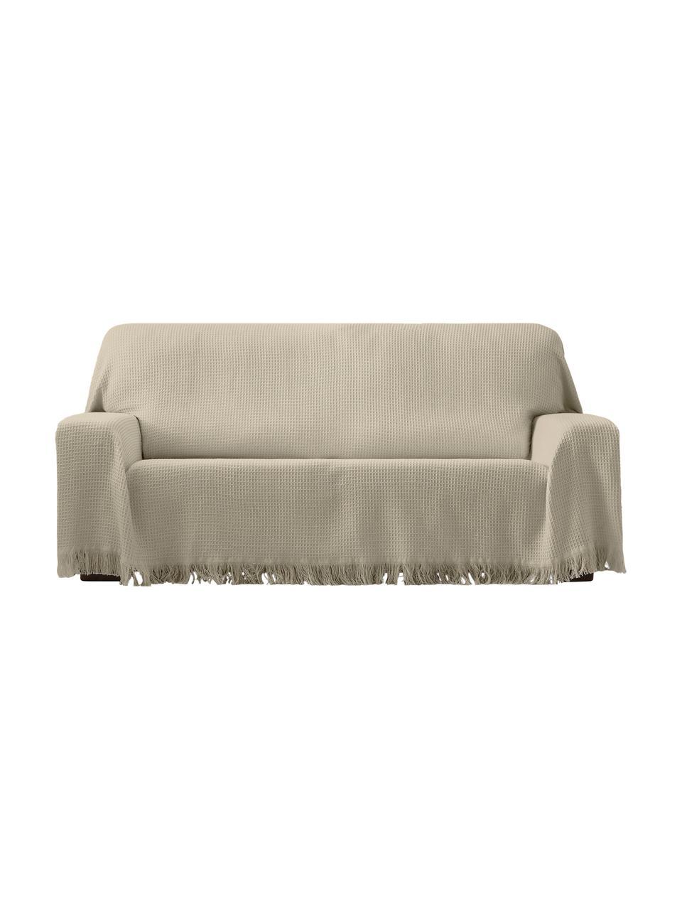 Funda sofá multifuncional Amazonas, 80%algodón, 20%otras fibras, Gris verdoso, An 230 x L 260 cm