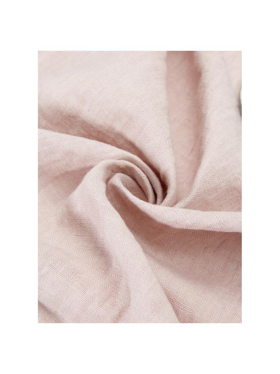 Federa arredo in lino rosa Sven, Lino, Rosa cipria, Larg. 50 x Lung. 50 cm