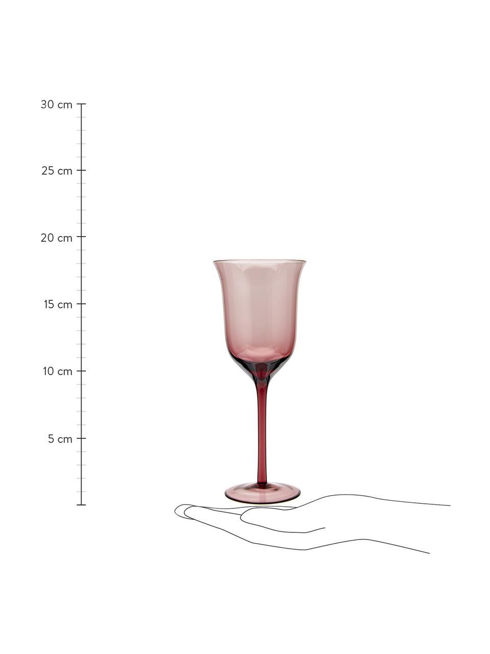 Komplet dużych kieliszków do wina ze szkła dmuchanego Desigual, 6elem., Szkło dmuchane, Wielobarwny, Ø 7 x W 24 cm