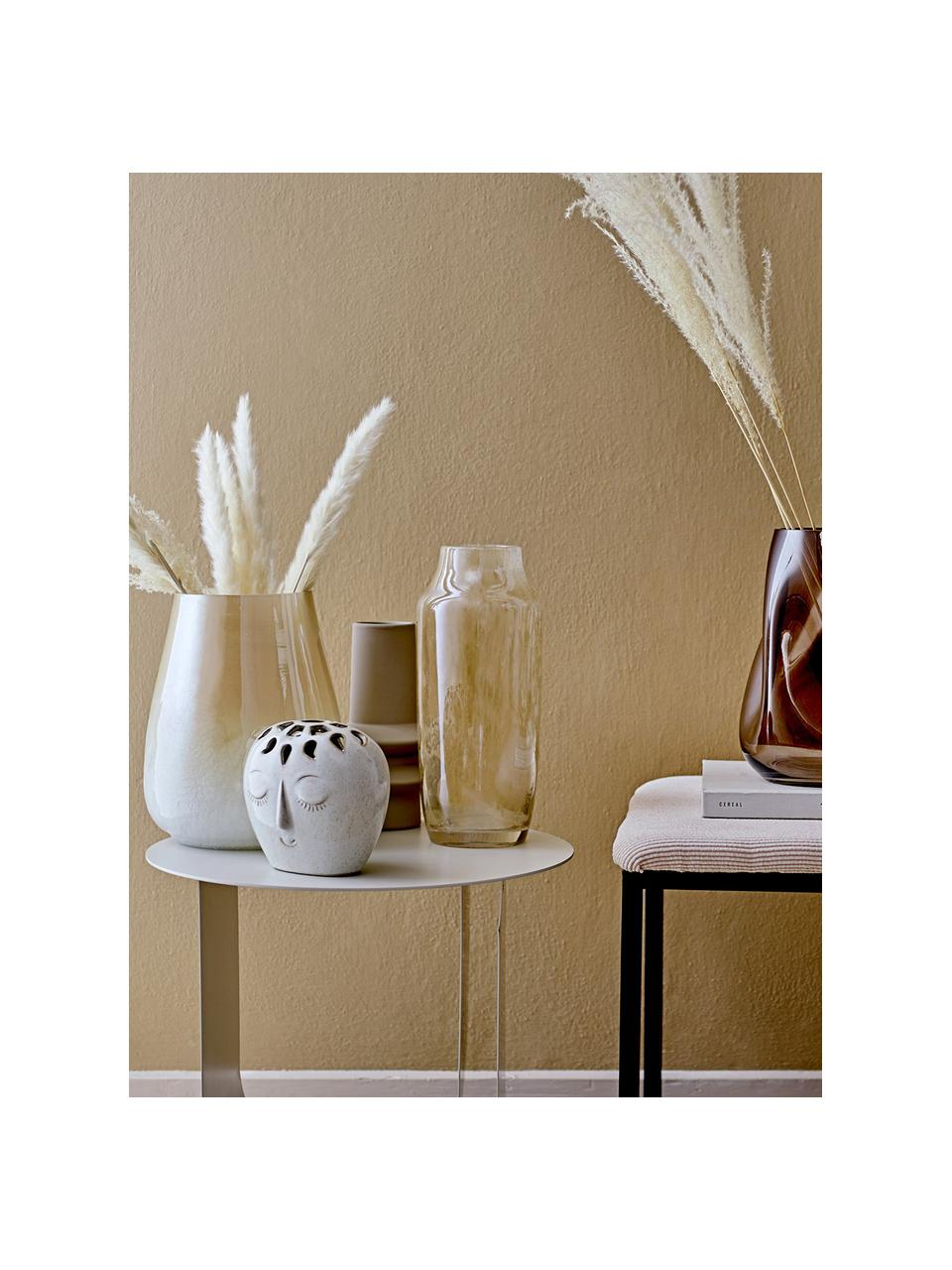 Vase Isold aus Steingut, Steingut, Braun, Ø 13 x H 22 cm
