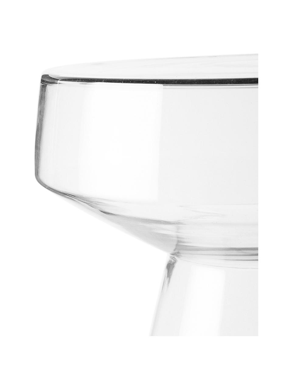 Bijzettafel Lars van glas, Veiligheidsglas, Transparant, Ø 39 x H 42 cm
