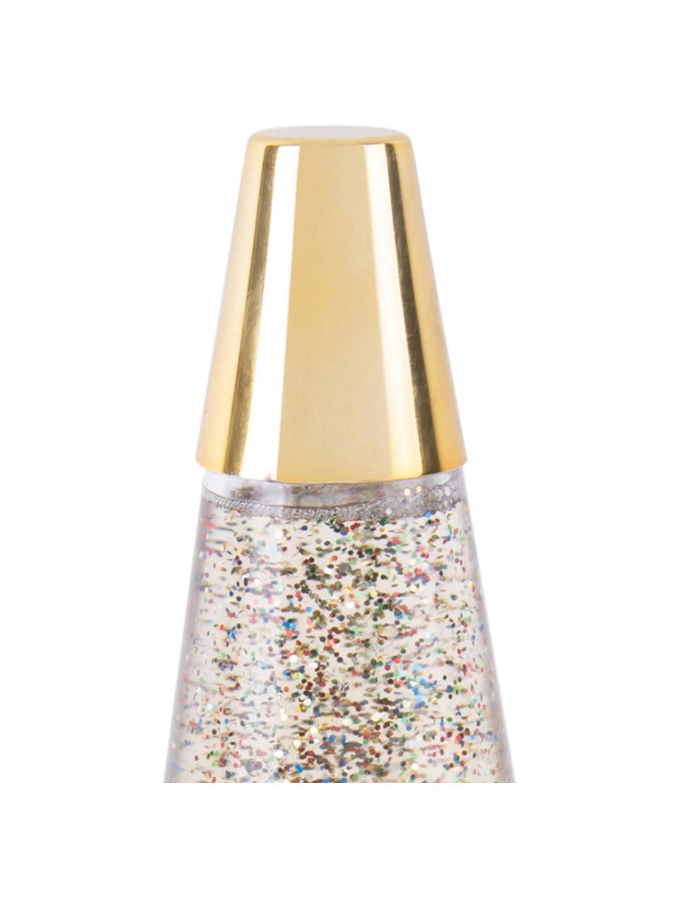 Lampada da tavolo dorata Glitter, Lampada: metallo rivestito, Dorato, Ø 10 x Alt. 37 cm