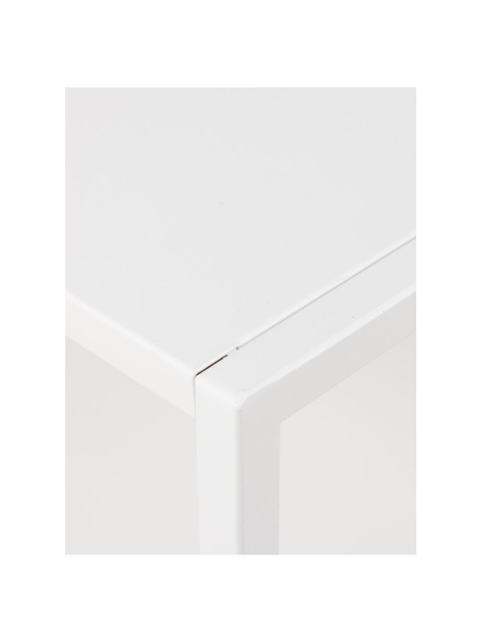 Console métal blanc Newton, Blanc