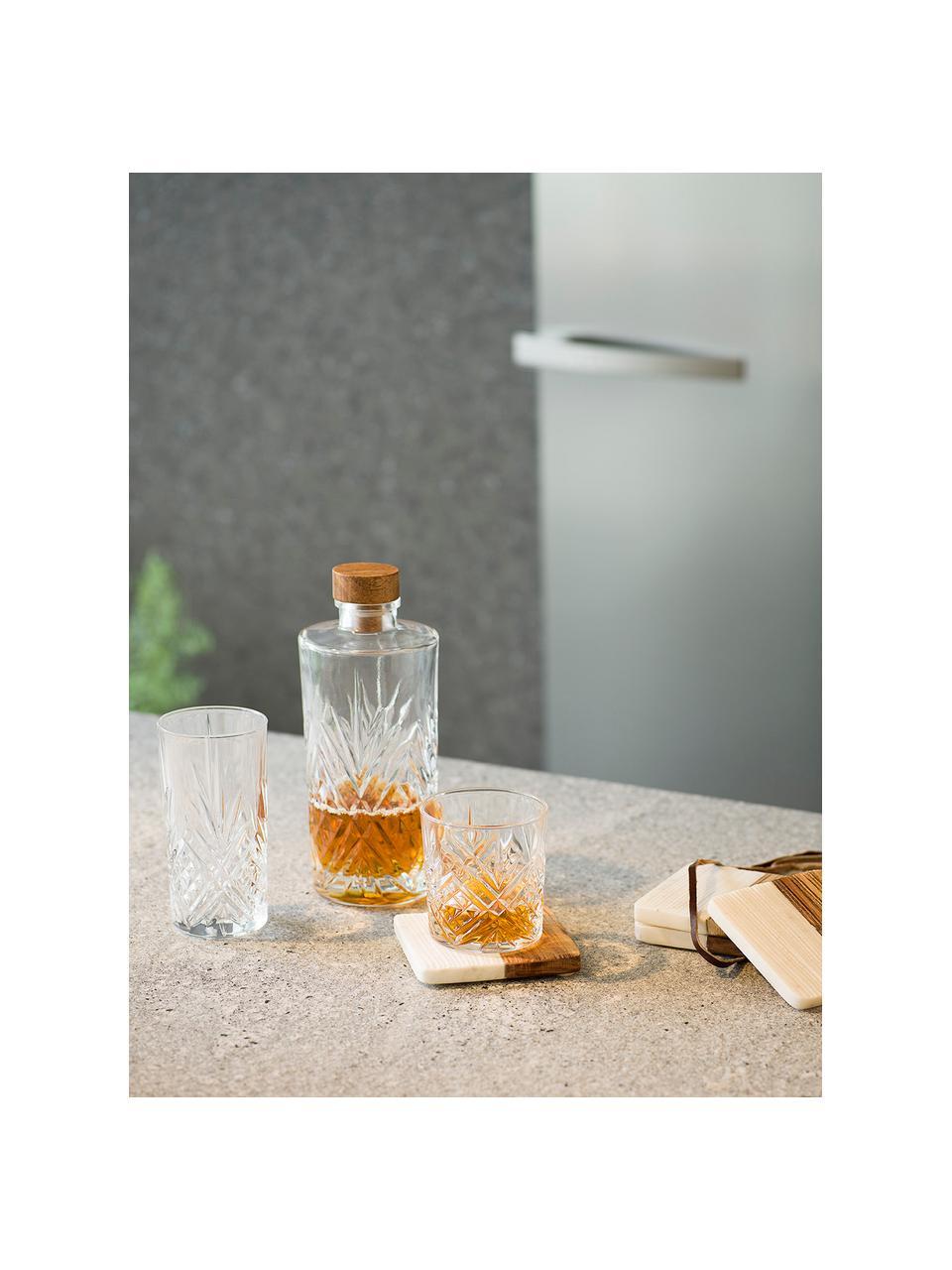 Carafe en cristal Eugene, 900 ml, Transparent, bois