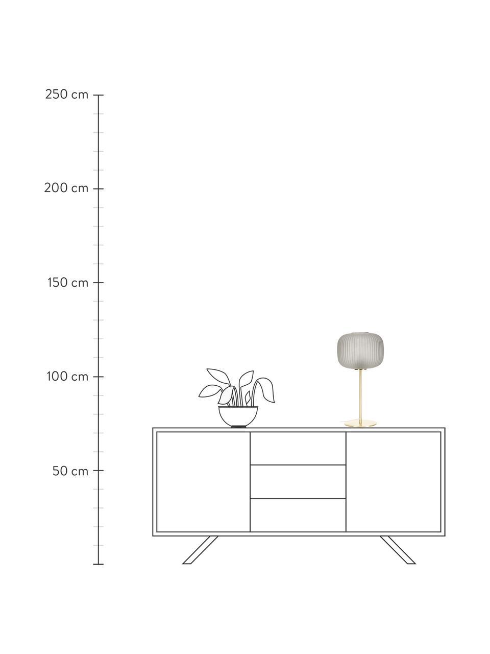Lampa stołowa ze szklanym kloszem Sober, Szary, odcienie mosiądzu, Ø 25 x W 50 cm