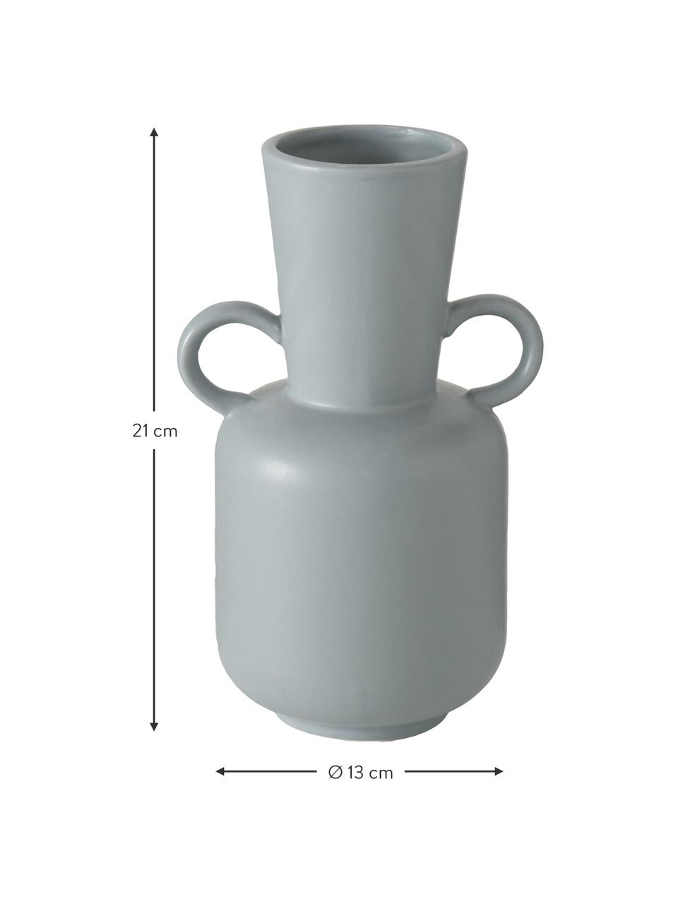 Steingut-Vasen-Set Danjin, 2-tlg., Steingut, Grau, Sondergrößen