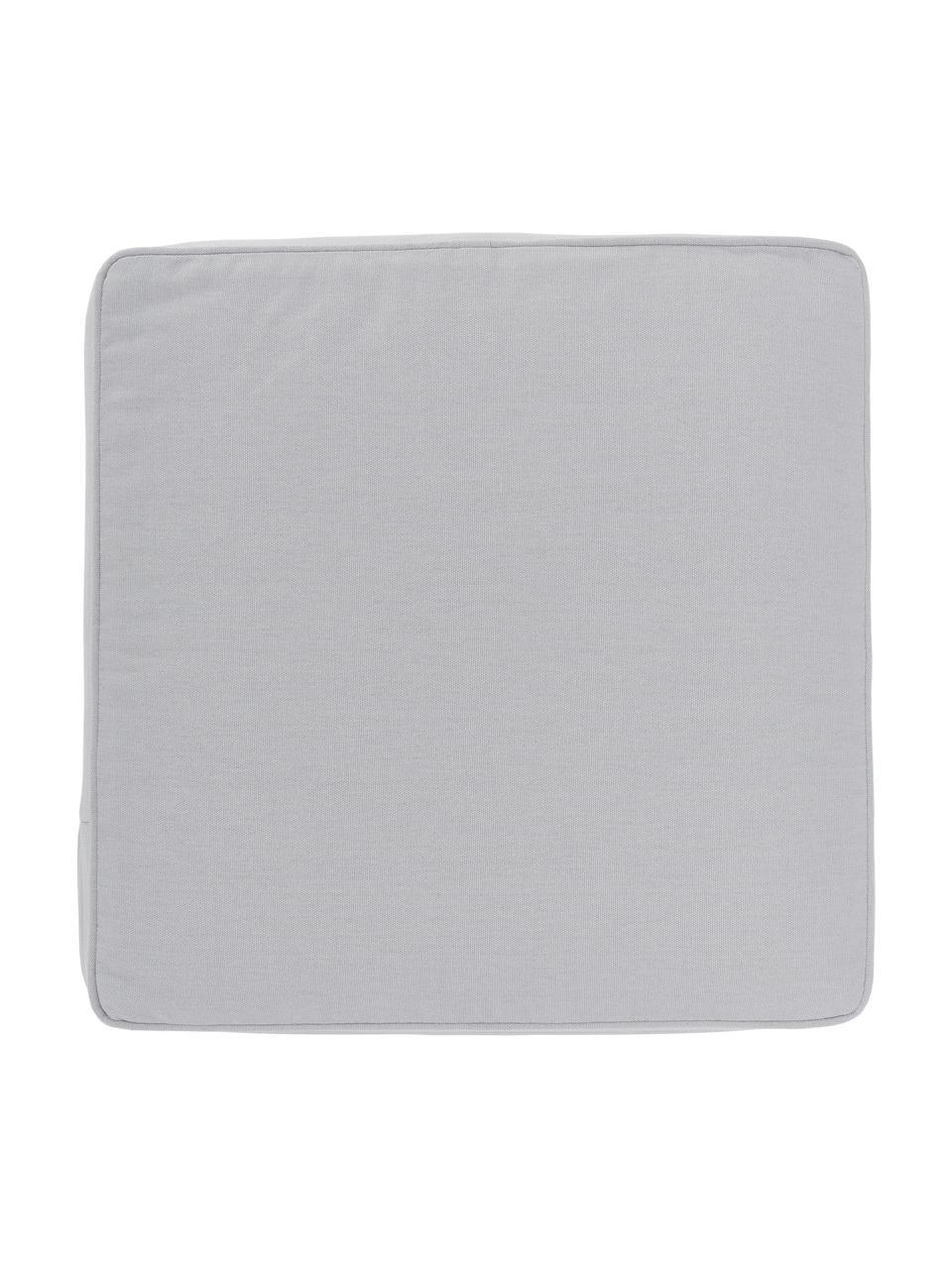 Hohes Sitzkissen Zoey in Hellgrau, Bezug: 100% Baumwolle, Grau, 40 x 40 cm