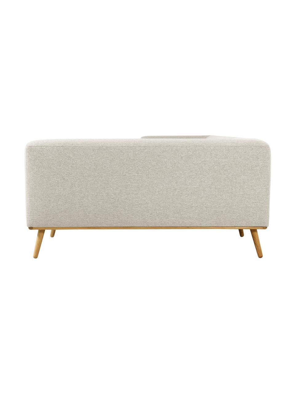 Canapé d'angle beige Archie, Tissu beige