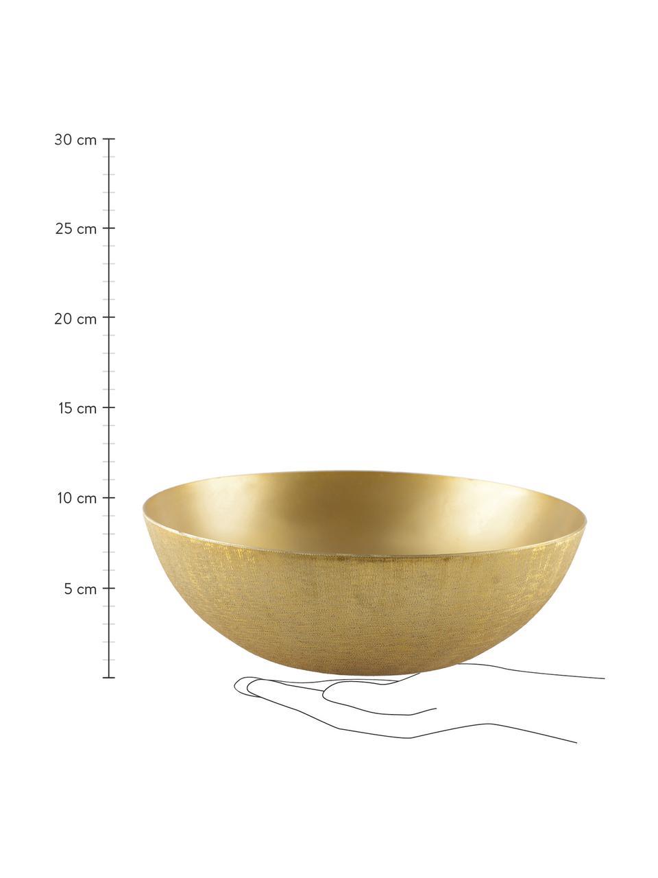 Miska z aluminium Simple, Aluminium powlekane, Odcienie złotego, szczotkowany, Ø 25 x 8 cm