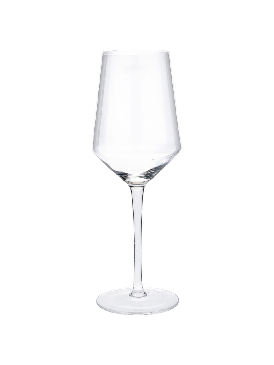 Mondgeblazen witte wijnglazen Ays, 4 stuks, Glas, Transparant, Ø 6 x H 24 cm