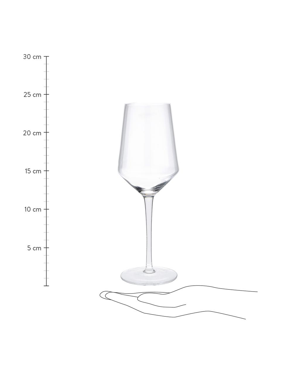 Bicchiere vino bianco in vetro soffiato Ays 4 pz, Vetro, Trasparente, Ø 6 x Alt. 24 cm